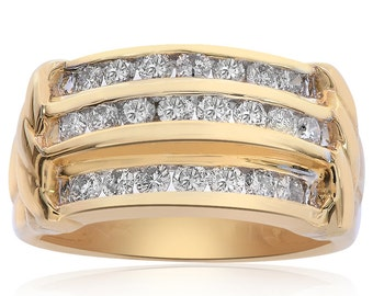 0.80 Carat Round Cut Diamond Ring 14K Yellow Gold