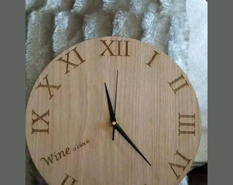 Personalised Wooden Clock