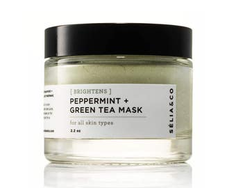 BRIGHTENS Peppermint + Green Tea Mask