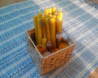 Eco candles from bees' wax. Hand rolled bees' wax candles. natural candles. environment friendly candles. Bees' wax candles