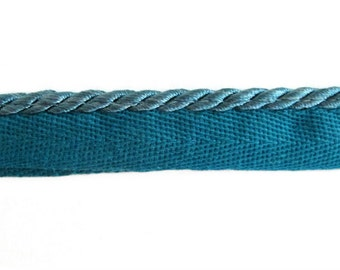 """2 3/4 yds of 1/4"""" Cord with Lip - Teal"""