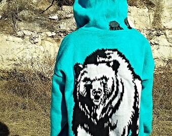 NEW Big Blue Bear - Jacket, Hoodie, Sweater, hoodie jacket