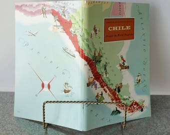 Chile Travel Booklet 1968 Manufacturer Error American Geographical Society Unused Stickers Included Around the World Travel Guide