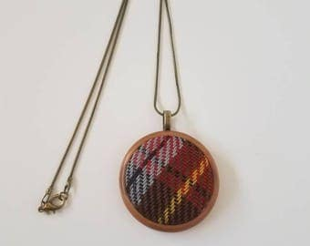 Wrap Scrap Jewelry - Necklace - Pretty Paisley - Can't Take The Sky From Me - CTTSFM - Wrap Scrap - Tartan - Plaid - Browncoats
