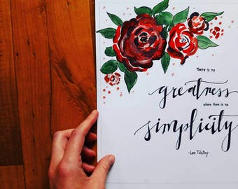Greatness in Simplicity Lettering