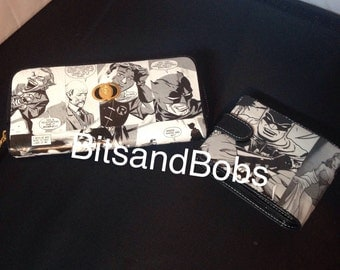 Him and hers wallet and purse, Batman Custom Purse and joker wallet