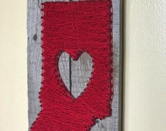 Pallet String Art Indiana Heart