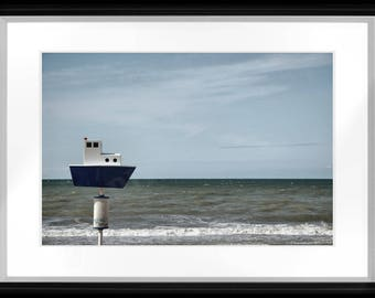 Photographic print the boat who dreamed to go to sea. Photographic print The dreaming of sailing boat.