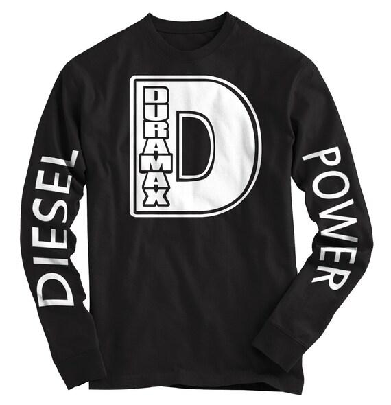 Chevy Duramax Diesel Black Long Sleeve T-shirt Size Xlarge