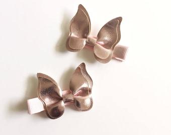 Butterfly hair clip - Faux leather hair clip - Hair clip - Hair accessories - Baby hair clip