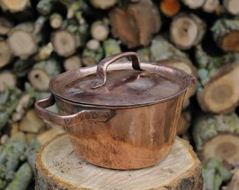 Handmade Conical Tinned Copper Pot