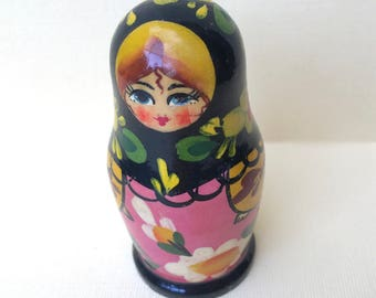 Sweet Little Hand Painted Russian Matryoshka Doll