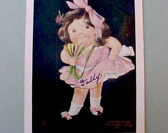"Sweet LIttle Girl  1907 Postcard: ""Tuesday's Child"""