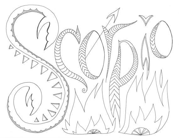 Scorpio Zodiac Coloring Page