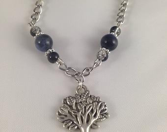Silver tree of life bracelet