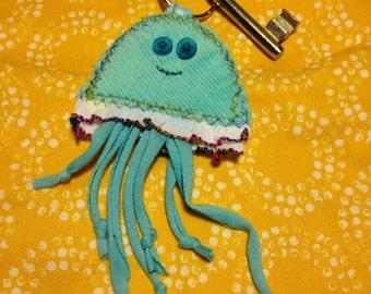 Jellyfish key ring, key chain