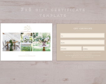 Photographer Gift Card Template-Gift Voucher Design-Gift Certificate Card