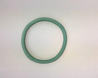 Green porcelain bangle