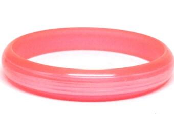 Fascinating Neon Pink Moonglow Vintage Estate Bangle Bracelet