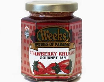 Strawberry Rhubarb Jam, Gourmet - Utah's Own, Preserves, Jelly, Marmalade