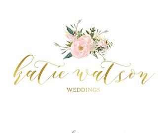 Beautiful Wedding logo, Floral logo, Pre-made logo design, Custom logo,Photography logo,Romantic logo,Wedding stationery, Wedding card