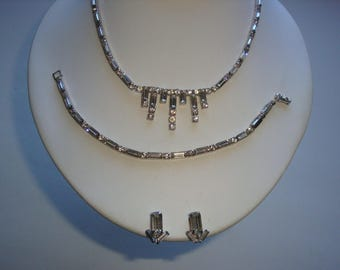 REDUCED  Full Parure Rhinestone Set by Continental