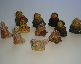 Wade Red Rose Tea Figurines -Jill of Jack and Jill - Mother Goose - Pied Piper - Kitten - Chimp
