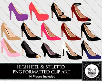 High Heels & Stiletto Clip Art - 14 Pieces Included - PNG Files #109