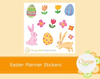 Easter Planner Stickers, Easter Stickers, Easter Eggs, Easter Bunny, Erin Condren Life Planner, Happy Planner