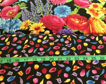 Timeless Treasure Nature - Petal Fabric by the half yard Flowers, Floral