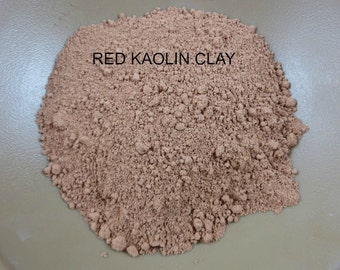 sample CLAY PACK #1- Red Kaolin Clay, French Green Clay, Fullers Earth Clay, Rose (Pink) Kaolin Clay, Rhassoul Clay .75 &  2 oz packs