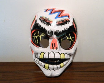 Vintage Ben Cooper Skeleton Halloween Mask