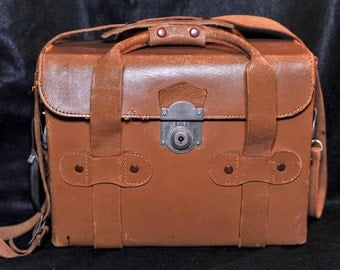 Leather Chelico Camera Satchel / Carry Bag ideal for digital and analogue cameras