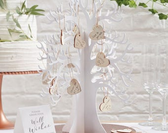 Wooden wish tree