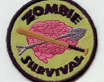 Zombie Survival Badge- Patch
