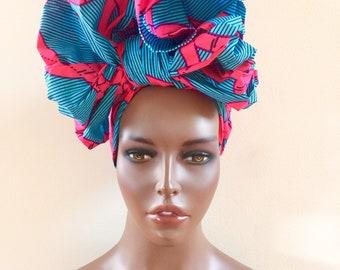 African Wax Print Ankara Head Wrap, Scarf, Head Tie