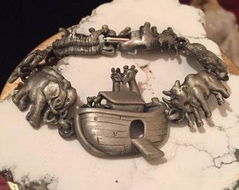 Vintage Noah's Ark link bracelet