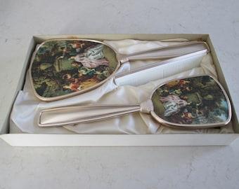 Vintage Mirror Brush Comb Vanity Set