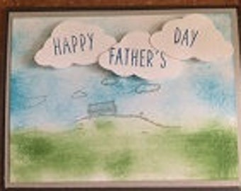 Happy Fathers Day Hill Greeting Card