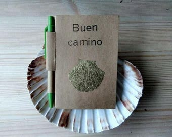 recycled agenda planner/camino de santiago/st jacques route/santiago way/perfect gift for a peregrino