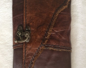 Jungle Leather, tobacco pouch, leather case, hand stitched pouch