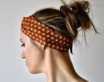 Headband P' little trickster Batik red tiles woman spring