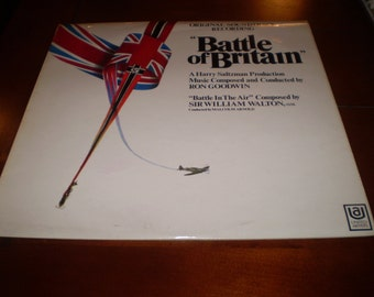 Battle Of Britain Film Soundtrack LP Album,1969 original Stereo First pressing.Near Mint Condition.UAS29019