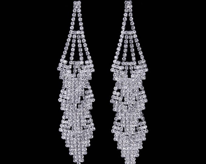 Raine Clear Crystal NPC Bikini Fitness Competition Earrings