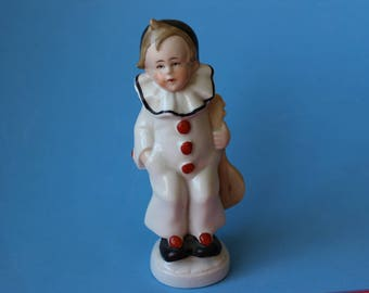 Bisque Pierrot Clown Made In Germany