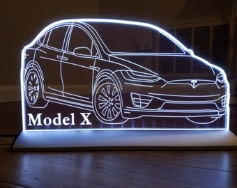 Tesla model X Led sign lamp Made in USA