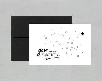 You Are My North Star Card | Love Card | Valentine's Card | Birthday Card | Anniversary Card | Meaningful Card | FOLI + LO