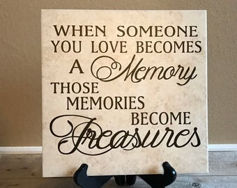Remembrance Gift, Remembrance Tile, Remembrance Sign, Memorial, Loss of Family, Loss of Pet, Loss of Mother, Loss of Baby, Loss of Father