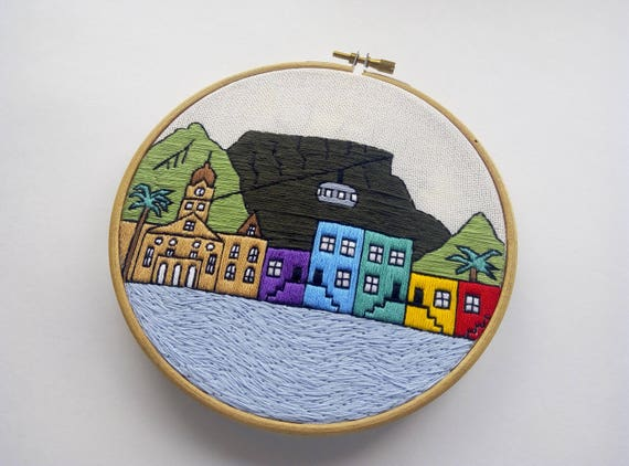 Cape town hand embroidery pattern pdf hoop art