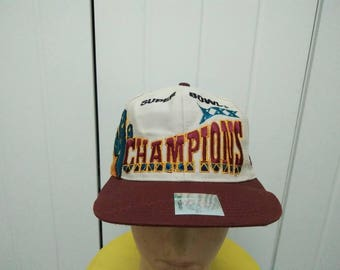 Rare Vintage Super Bowl XXX Champions Big Logo Spell Out Embroidered Cap Hat Free size fit all